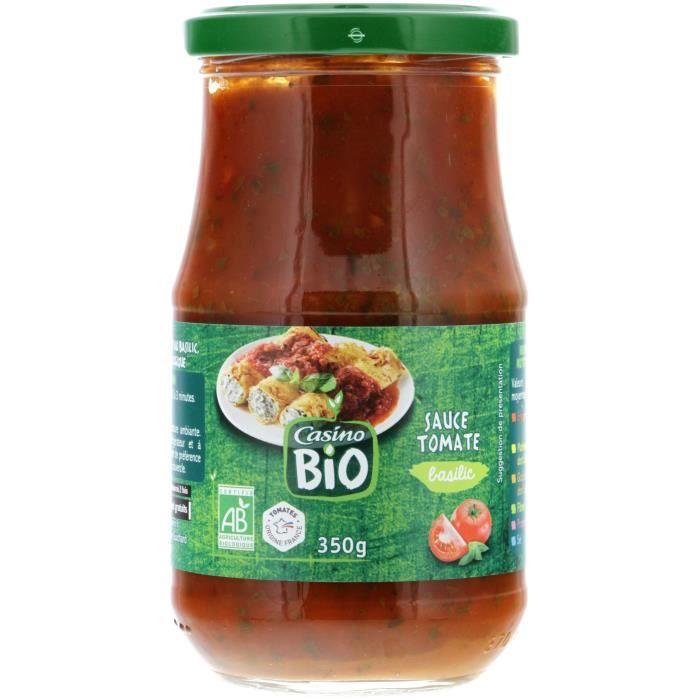 CASINO Sauce Tomate Basilic Bio - 350G