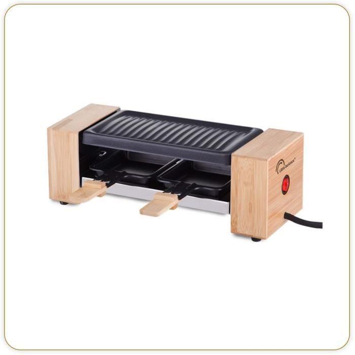 APPAREIL A RACLETTE LITTLE BALANCE 8387 Raclette Wood for 2 - Appareil à raclette 1 ou 2 personnes - Grill amovible - Rev27