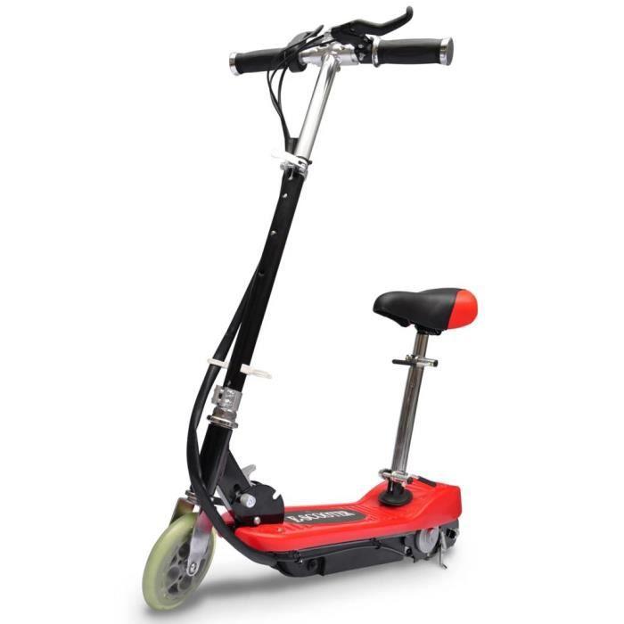 Trottinette électrique enfant avec Siège 120W 12 km/h- A partir de 6 ans- Rouge