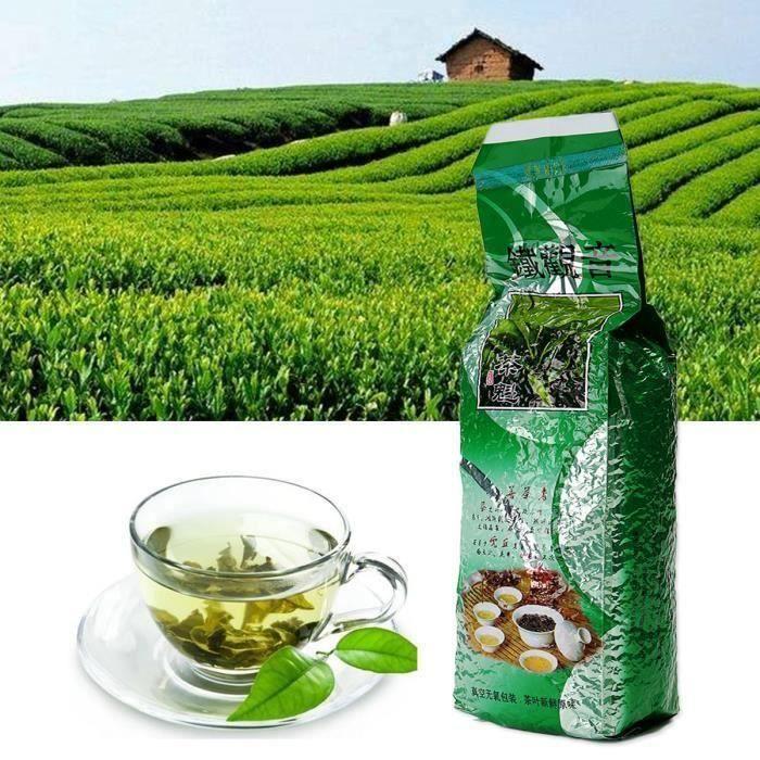 500g Thé Vert Oolong Chinois Premium BIO Tie Guan Yin Emballé Sous Vide Me29337