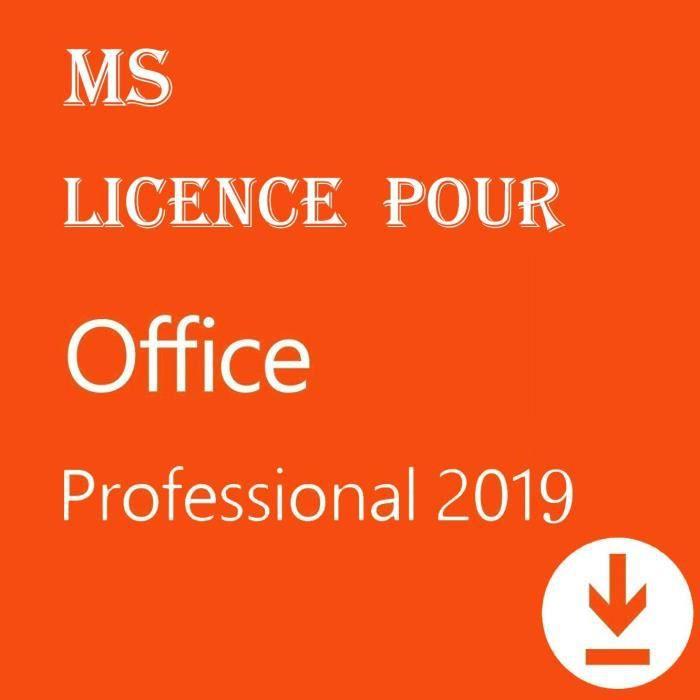 Licence pour Office 2019 Professional Plus 32/64 bits - Licence pour 1PC ( seulement pour windows 10 ) - [Téléchargement] - Livraiso