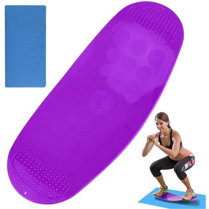 Balance Board,Planche d'équilibre de fitness exercice de base des muscles abdominaux et des muscles des jambes (violet)