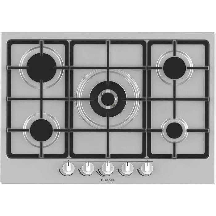 TABLE DE CUISSON GAZ Hisense GM773XF Plaque de cuisson &agrave gaz, 5 zones de cuisson, largeur 70 cm, br&ucircleur wok double28