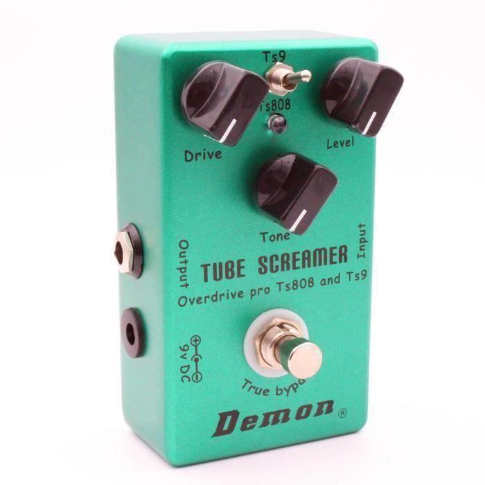Pédale D'Effet de Guitare Électrique Vintage Pro Surdimensionné Screamer Tube Ts808 Demon LIJFK26108