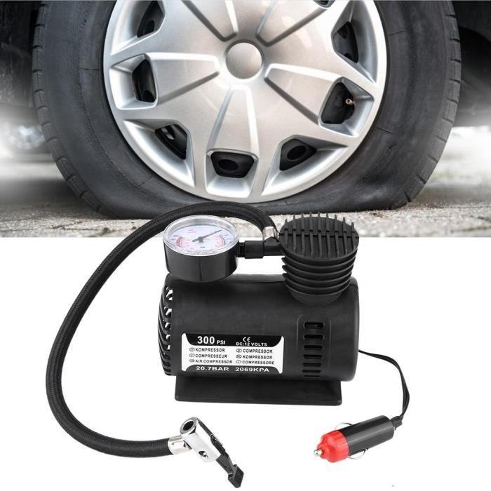 Dioche Gonfleur de compresseur d'air Mini pompe de gonflage de pneu de la jauge 300PSI de compresseur d'air de vélo de voiture