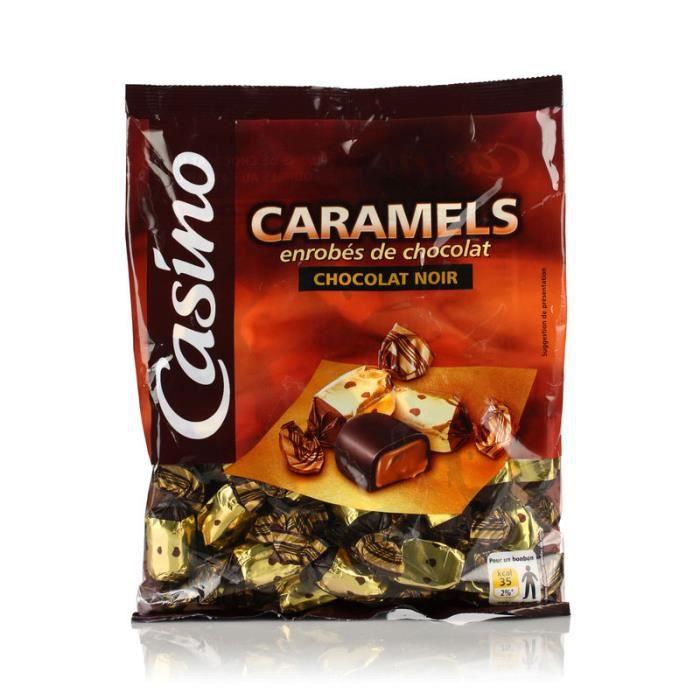 LUTTI Caramels enrobés de chocolat noir - 280 g