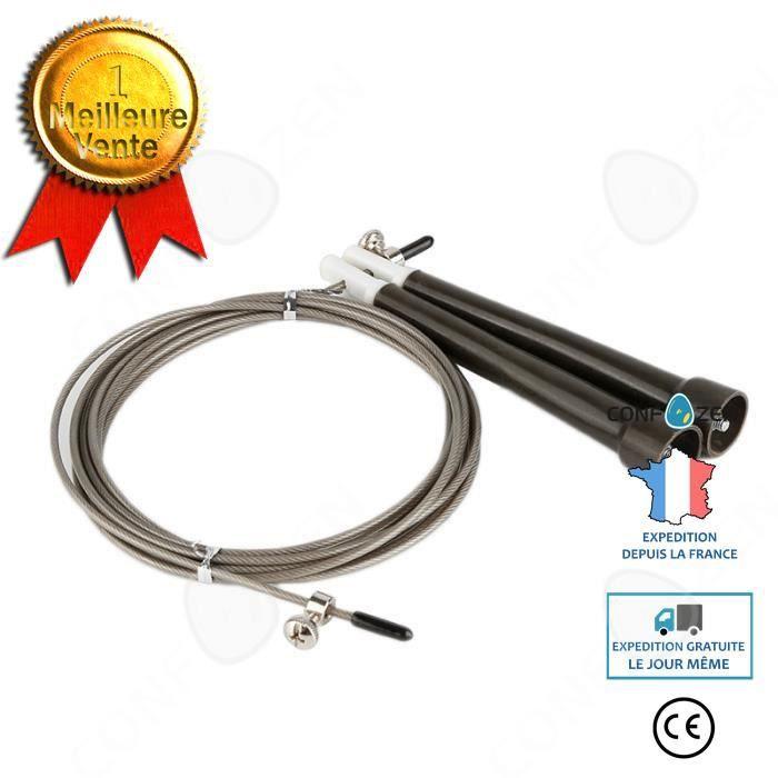 CONFO Accessoires Fitness - Musculation,3M corde à sauter cordes à sauter câble acier réglable vitesse rapide poignée - Type light g