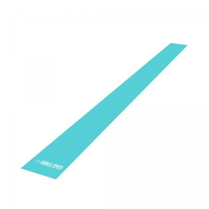 Bande élastique de fitness - Longueur : 200 cm - Bleu turquoise