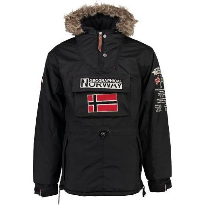 Parka passe-t�te Homme Geographical Norway Boomerang Noir