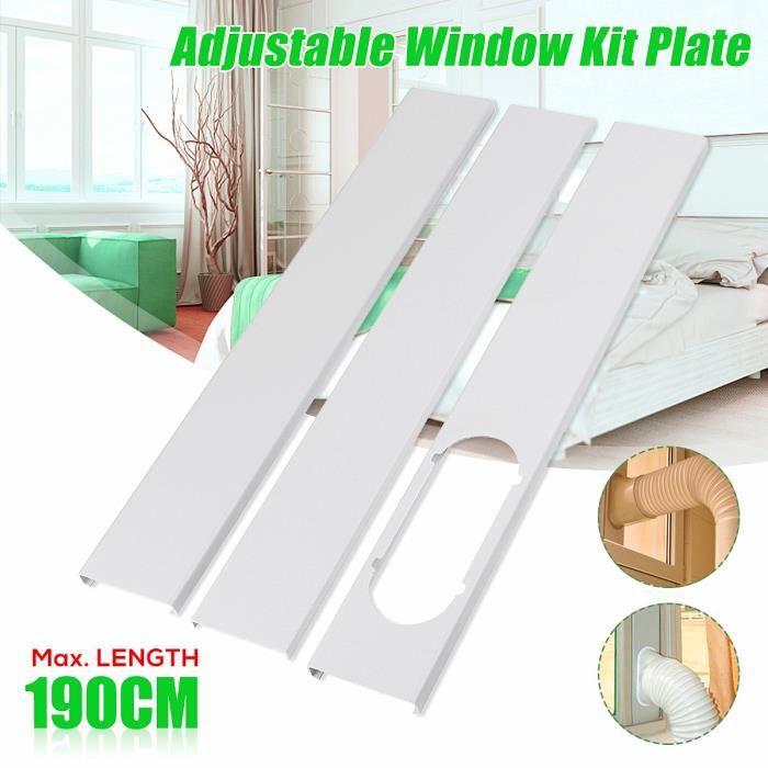3PCs kit Glissière de fenêtre 190cm Pr Mobile Climatiseur Climatisation Portable Portatif
