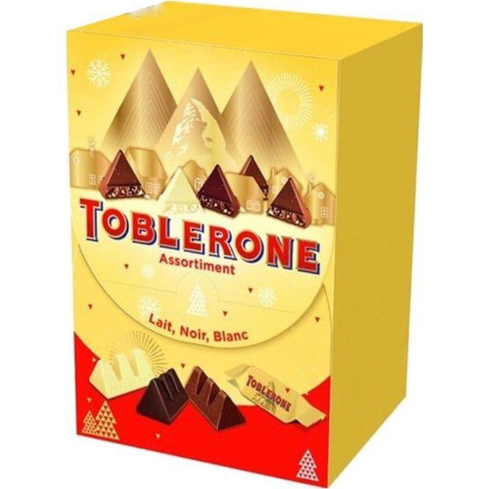 Toblerone Assortiment Mix Chocolat Lait Noir Blanc 400g