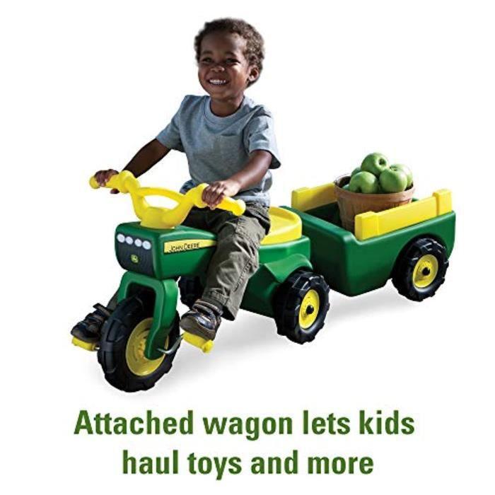 Voiture Electrique TOMY EA40X Tracteur à pédales et chariot John Deere