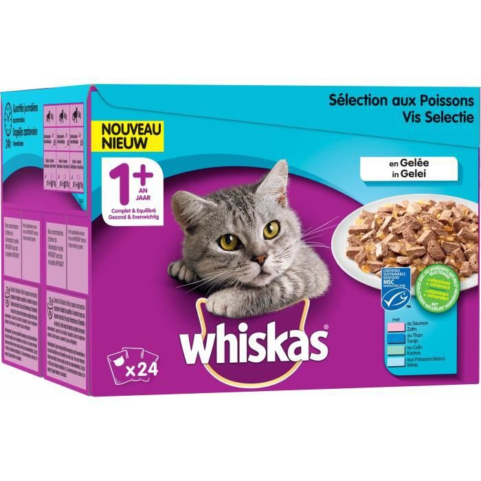 WHISKAS Filet du pêcheur - Pour chat - 24X100G
