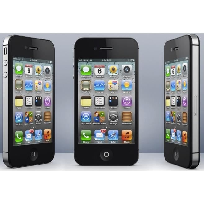 iphone 4s 8gb noir gsm pas chere achat smartphone. Black Bedroom Furniture Sets. Home Design Ideas