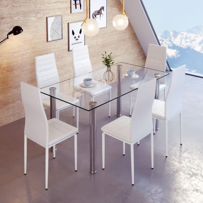 gris bleu Ensemble table et chaises de 5 pi/èces table de salle /à manger en bois avec 4 chaises