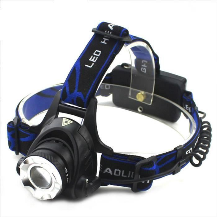 Lampe Frontale LED Puissante Rechargeable Torche Frontale Lampe Phare Orientable