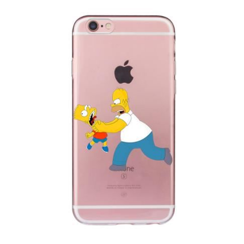 coque iphone 8 silicone simpson