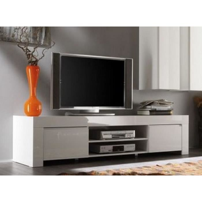 grand meuble t l moderne laqu blanc trendy meuble house achat vente meuble tv grand. Black Bedroom Furniture Sets. Home Design Ideas