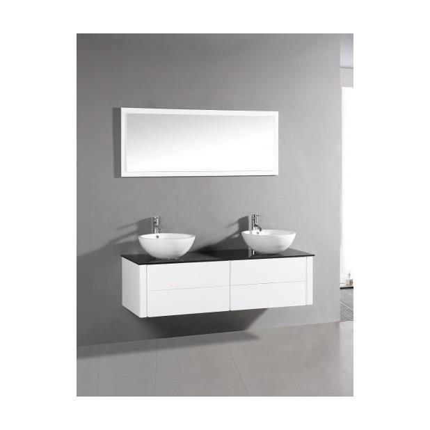 magnifique meuble de salle de bain complet polka blanc ensemble salle de bain meuble 2. Black Bedroom Furniture Sets. Home Design Ideas
