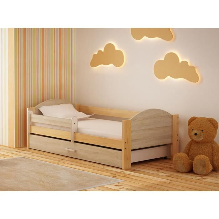 lit enfant avec barriere de securite achat vente pas. Black Bedroom Furniture Sets. Home Design Ideas