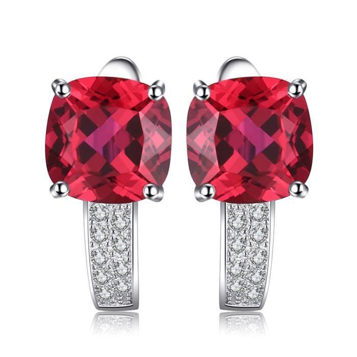 Magnifique Rubis Argent Sterling 925 Boucles D/'oreilles Clou