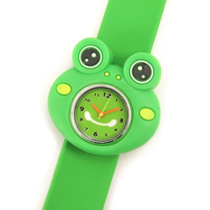 montre slap grenouille vert achat vente montre mixte enfant m tal vert cdiscount. Black Bedroom Furniture Sets. Home Design Ideas