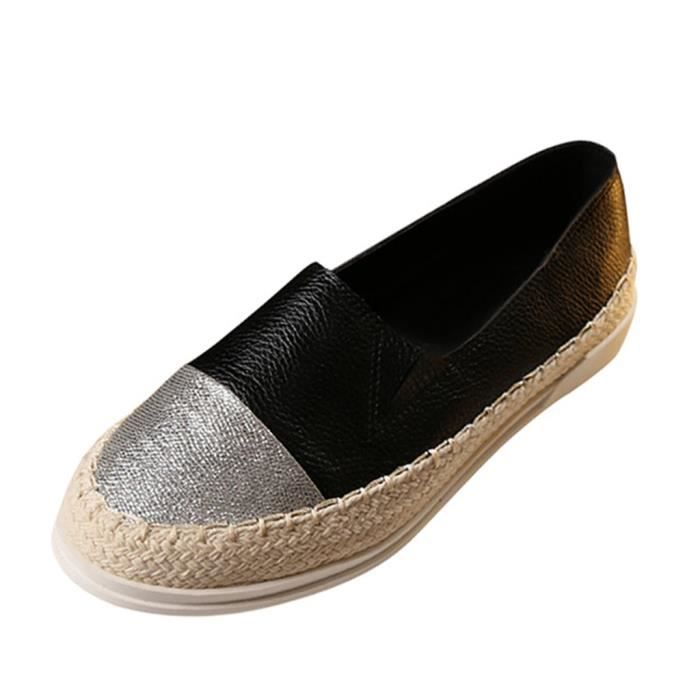 HEE GRAND Slip-on Femme Glitter Chaussures Plat Casual Jointif Printemps 2Mn5df