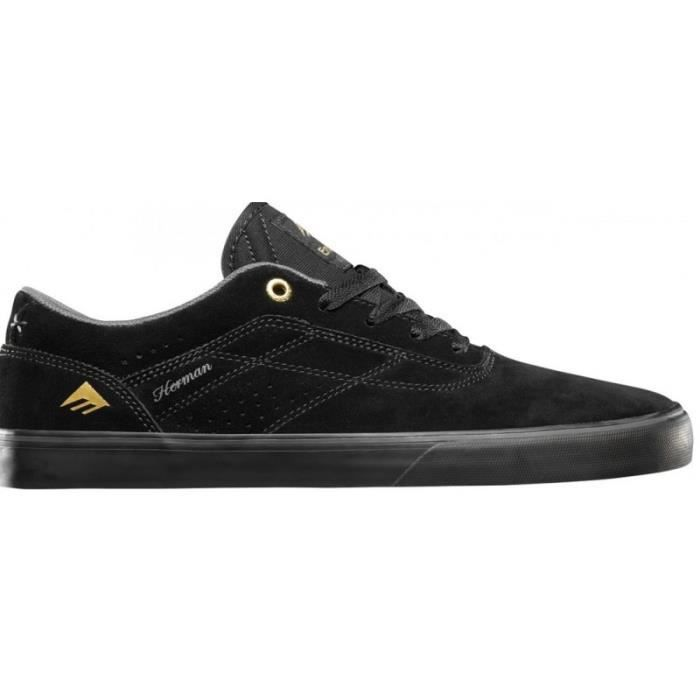 CHAUSSURES EMERICA THE HERMAN G6 VULC BLACK BLACK skateshoes WeG99DSOd
