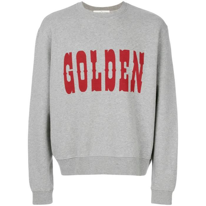 GOLDEN GOOSE HOMME G32MP558A2 GRIS COTON SWEATSHIRT