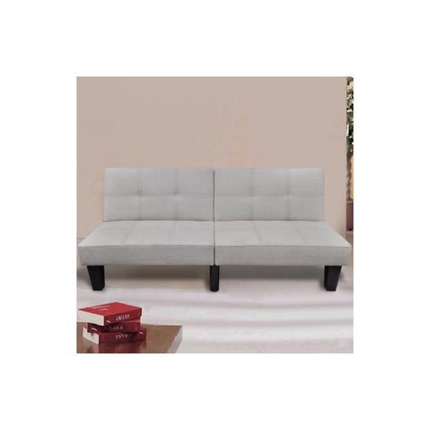 superbe canap lit convertible blanc chaud achat vente canap sofa divan cdiscount. Black Bedroom Furniture Sets. Home Design Ideas
