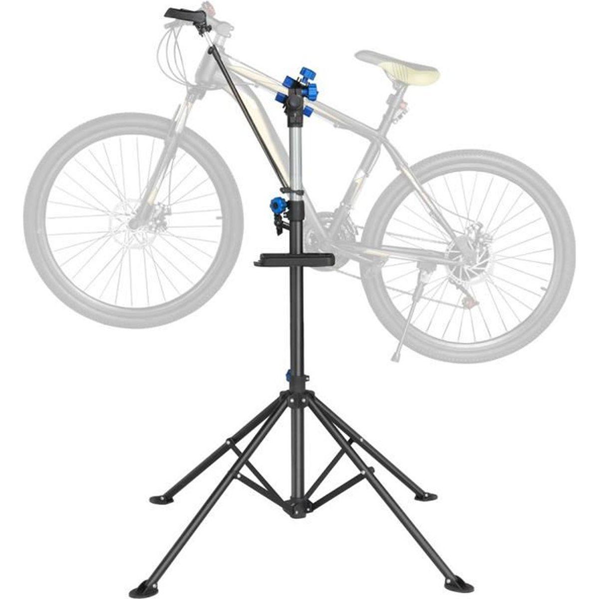 Fixation Pour Velo Garage yaheetech pied d'atelier pour vélo vtt support de montage