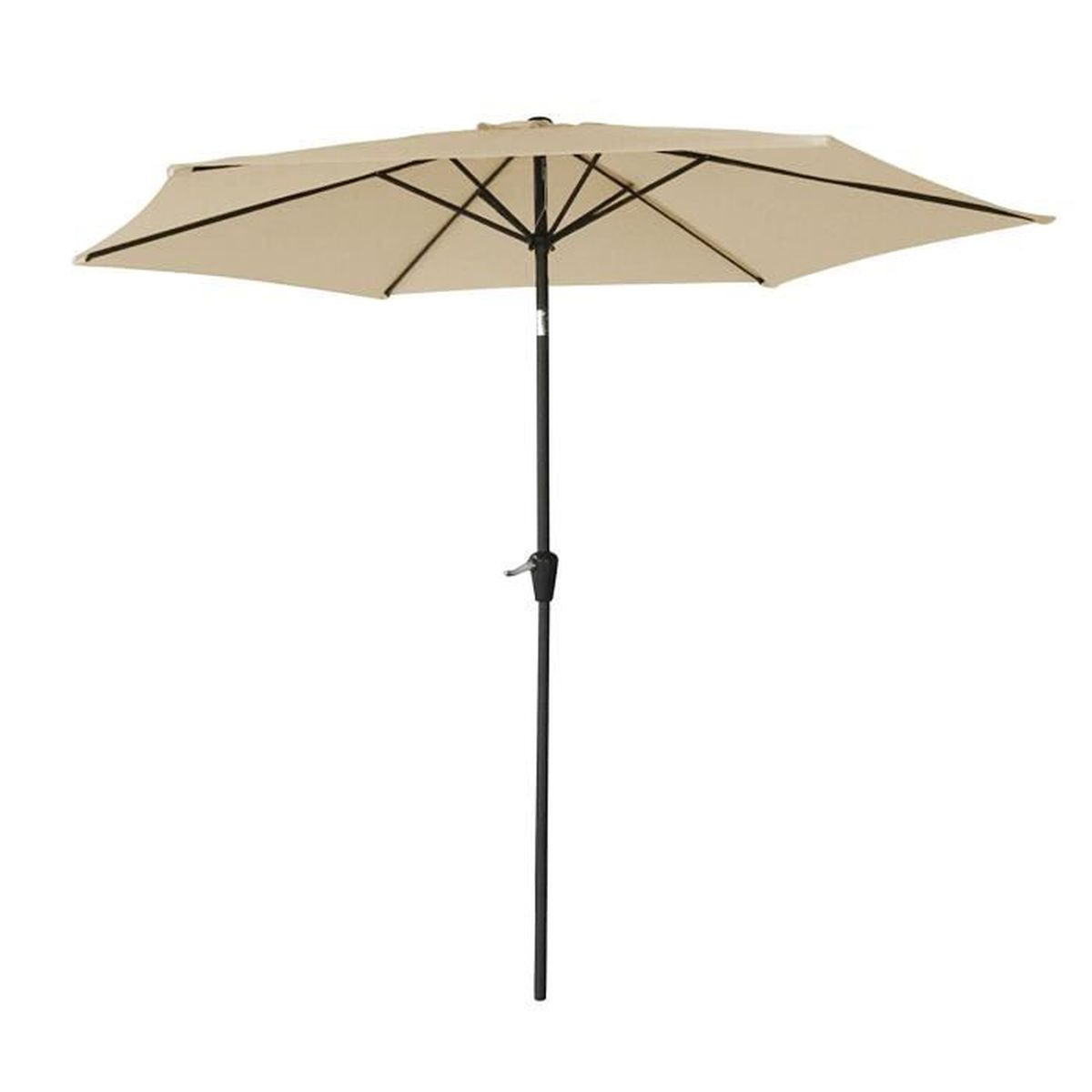 parasol droit hapuna rond 2 70m de diam tre beige m t gris achat vente parasol parasol. Black Bedroom Furniture Sets. Home Design Ideas