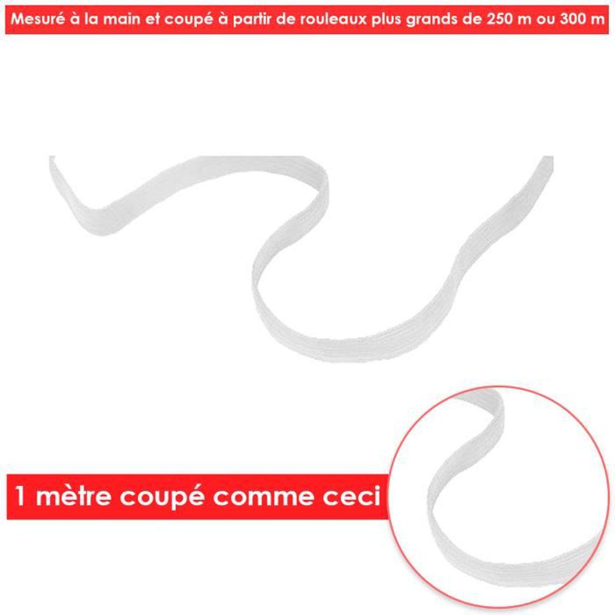 """Élastique 12 mm 1.2 cm Noir et Blanc - Qualité Supérieure 1//2 Pouces 1//2/"""""""
