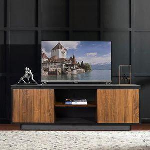 Meuble Tv Scandinave Pieds En Bois Gris Fonce Et Blanc L 116 Cm Babette Achat Vente Meuble Tv Meuble Tv Blanc Gris Babette Cdiscount