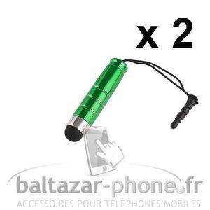 STYLET TÉLÉPHONE 2 Mini Stylets vert pour Samsung Note 3 Neo