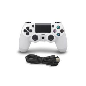 MANETTE JEUX VIDÉO JCU® Manette Filaire PR PS4 DualShock Blanc Joysti