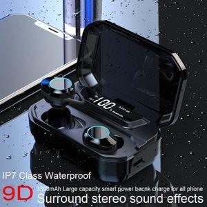 KIT BLUETOOTH TÉLÉPHONE Écouteurs Bluetooth 5.0 sans Fil Sport 3300 mAh Et