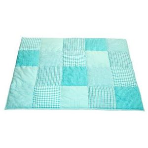 taftan tapis de jeu patchwork bleu turquoise achat vente tapis de jeu cdiscount. Black Bedroom Furniture Sets. Home Design Ideas