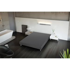 sommier a lattes 160x200 avec pieds achat vente. Black Bedroom Furniture Sets. Home Design Ideas