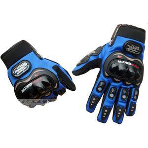 GANTS - SOUS-GANTS Bleu gants de moto gants de doigts pleins de cours