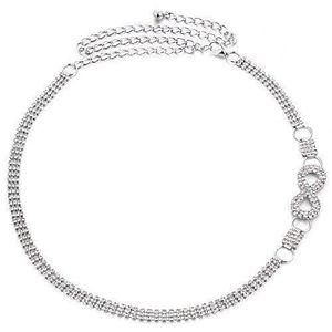 CHAINE DE TAILLE - CHAINE D'EPAULE 118 cm réglable argent métal taille ceinture chaîn