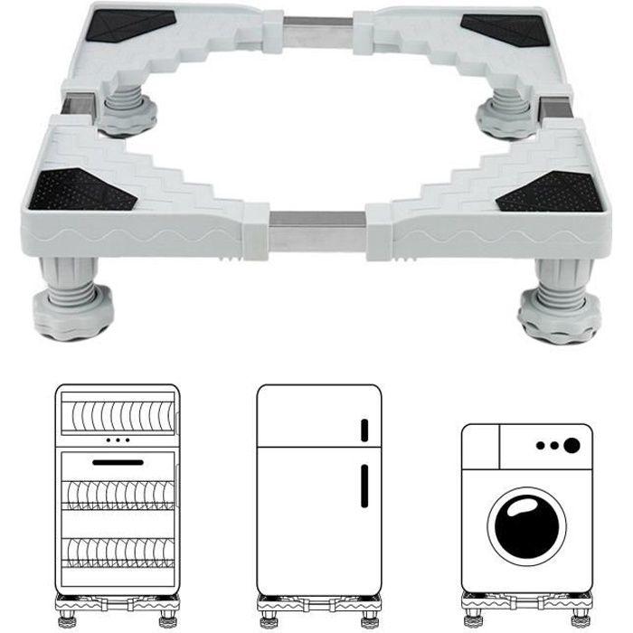DEWEL Base de Machine à Laver Antidérapant Base de Panneau supporter un poids de 300 KG pour Réfrigérateur électroménager