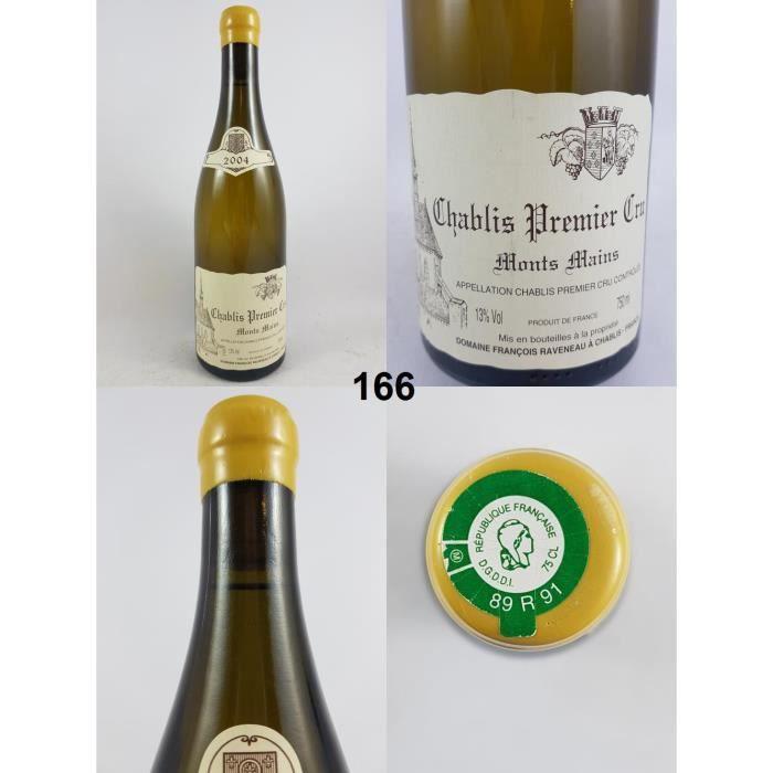Chablis 1er Cru - Monts Mains - François Raveneau 2004 - N° : 166, Chablis, Blanc