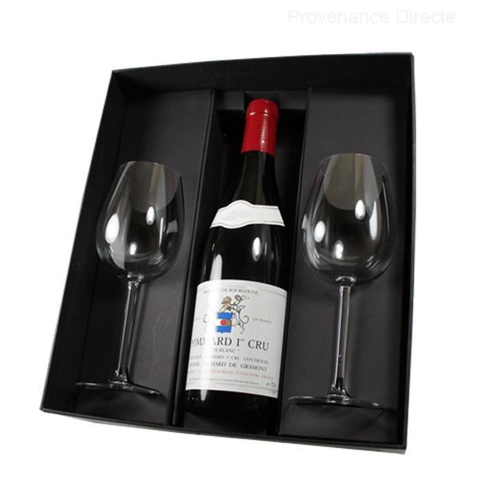 Coffret Pommard 1er Cru Clos Blanc 2013 et 2 verres dégustation