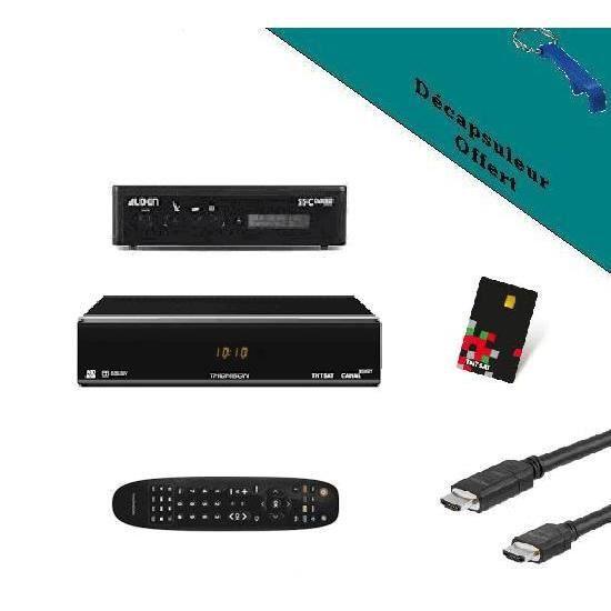 PACK ALDEN Récepteur THOMSON THS 804 TNTSAT HD + Pointeur MRA HD ME Astra pour parabole automatique