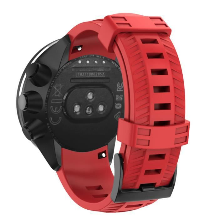 Accessoires de bracelet intelligent Sports Silicone Replacement Wristband Band Strap for SUUNTO 9- Baro Smart Watch A175