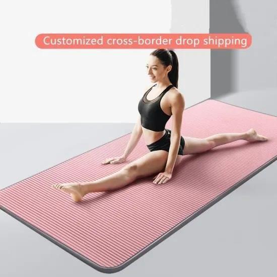 185*61*1cmTapis de Yogaantidérapant, très épais, pour Fitness, Pilates, exercice physique-rose
