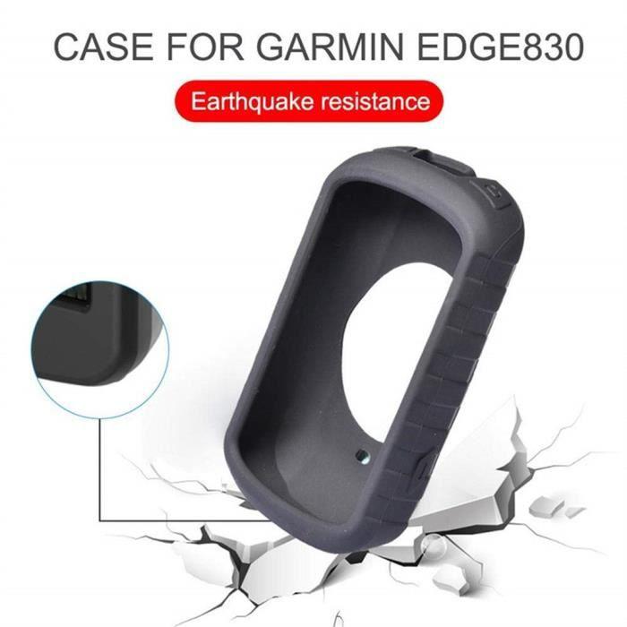 Pour Garmin Edge 830 Housse de protection anti-choc en silicone antidérapante_z1409
