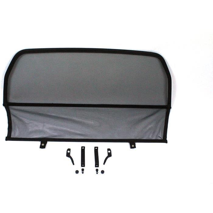 Filets coupe-vent pour cabriolet GermanTuningParts Déflecteur de vent pour Jaguar XJS 2s (1991-1996) - Pliable - Noir - 64437