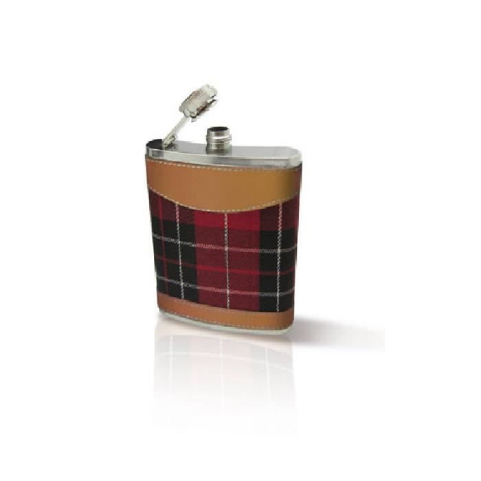Flasque à Whisky motif écossais Vin bouquet